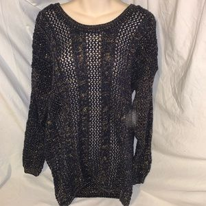 Free people mesh knit women's top size tag missing